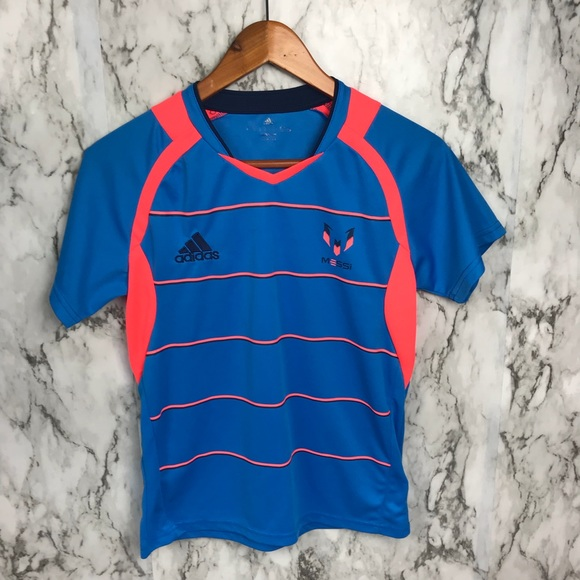 the latest 68893 a5c0d Adidas Messi Jersey boys Soccer top Youth